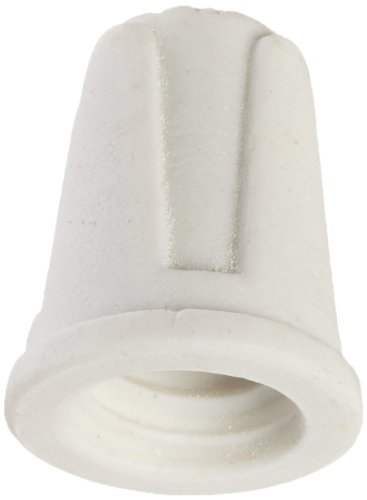 NSI TOP-L-CD Easy-Twist Large Ceramic Wire Connector, 18-8 AWG at 600 V, Splicing Wire, 1000 F Max, White with Pack of 100