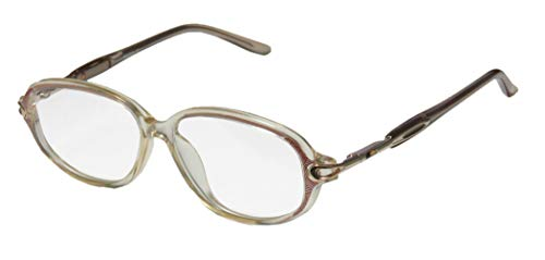 D&A Ie149 Mina Womens/Ladies Designer Full-rim Spring Hinges Casual Affordable For Seniors Eyeglasses/Eyeglass Frame (47-12-127, Transparent Yellow/Gold / Multicolor) (D-frame Brille)
