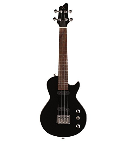 Vorson FLPUK2BK Electric Ukulele with Gig Bag, Black by Vorson