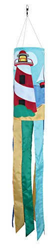 In the Breeze Lighthouse and Boat Windsock, 40-Inch