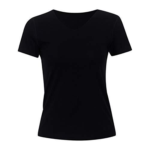 71adf90b5f1 Ivan Johns Clothing T Shirt Women V Neck T-Shirt New Summer New Tops Short  Sleeve T-Shirts Women Soft Solid Tops Tees v-Black L