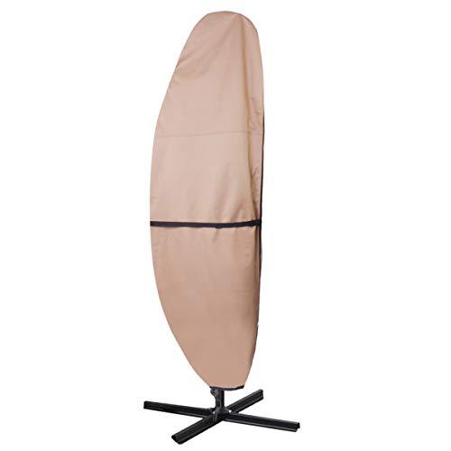 ULTCOVER Patio Umbrella Cover - 600D Waterproof Outdoor Offset Banana Style Umbrella Cover - Fits Cantilever Offset Umbrella 12-14 Feet (Patio Rectangular Offset Umbrella 11')