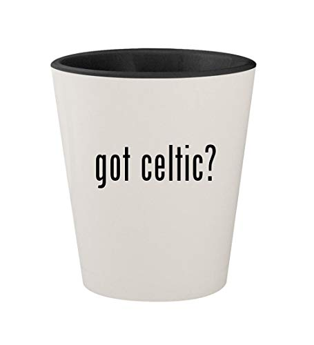 - got celtic? - Ceramic White Outer & Black Inner 1.5oz Shot Glass