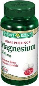 Magnésium générosité de la nature, puissance élevée, 500 mg, comprimés, 100 ct.