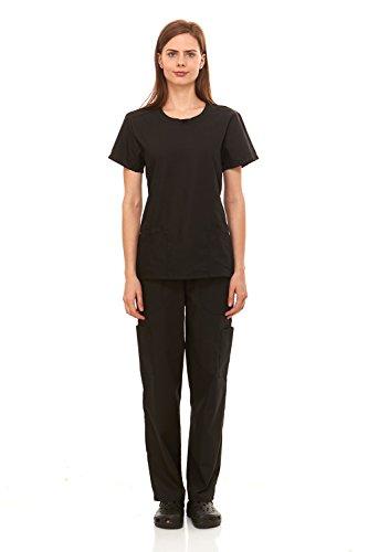 Denice-Medical-Uniforms-For-Women-Nurses-Scrub-Set-Infinity-Round-Neck-1097
