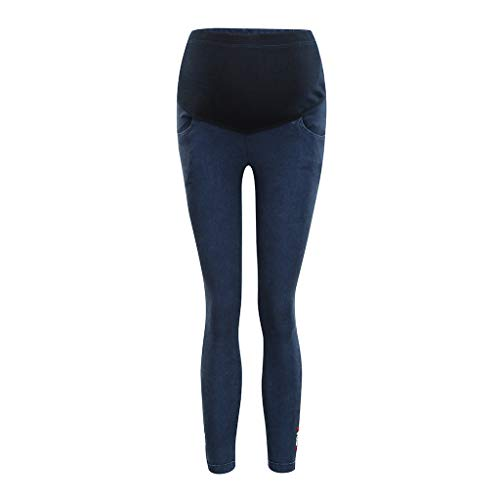 RIUDA Maternity Women's Pants Maternity Indigo Blue Super Stretch Secret Fit Belly Skinny Denim Jean Trousers