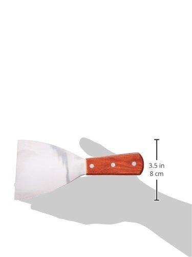 Update International Grill Scraper, Diner, Griddle Scraper, Teppanyaki, Angle-Slanted Blade, Stainless Steel, Commercial Grade