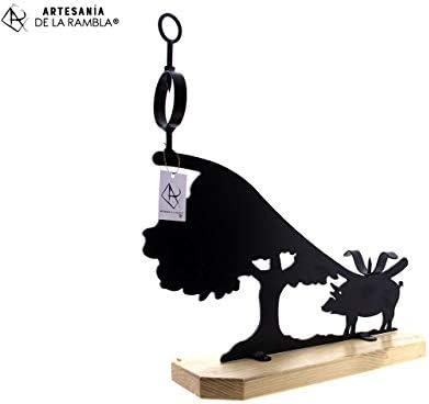 ARTESANÍA DE LA RAMBLA | Jamonero rústico | Jamonero Amazon | Jamonero de forja | Soporte jamonero | Jamonero Dehesa | 58x20x60 cm