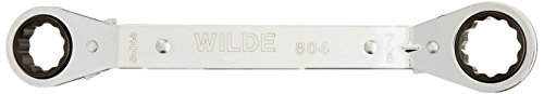 (Wilde Tool 804 Offset Ratchet Box Wrench, 3/4 inch x 7/8 inch)