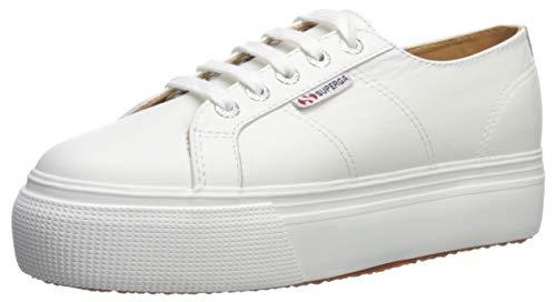 Superga Women's 2790 NAPPALEAW Sneaker, White, 41 M EU (9.5 US)