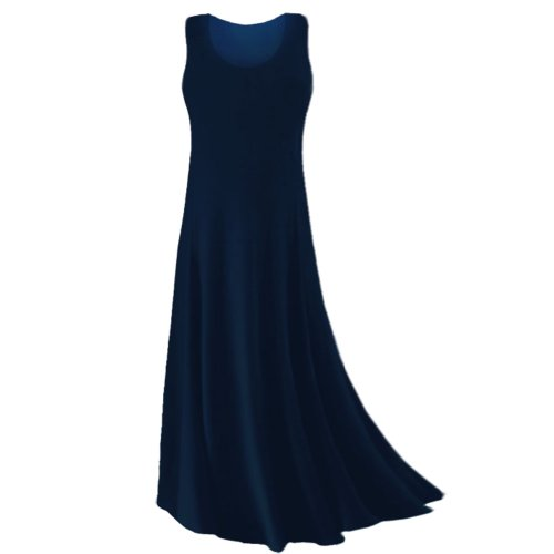 Sanctuarie Designs Women's /4x /Navy Blue Princess Cut Plus Size Supersize Slinky Tank Maxi Dress/4x /./