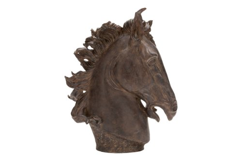 Deco 79 Poly-Stone Horse Head, 25 by 22-Inch