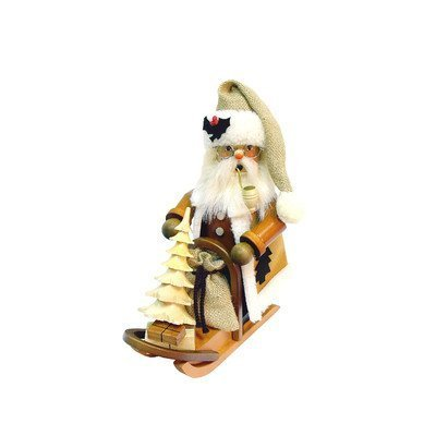 1-170 - Christian Ulbricht Incense Burner - Santa on Sleigh - 10''''H x 5.5''''W x 8.25''''D by Taron Collections
