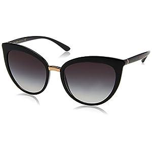Dolce & Gabbana Women's Essential Cat Eye Sunglasses, Black/Grey, One Size