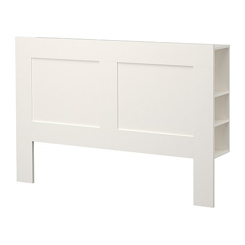 Ikea Queen size Headboard with storage compartment, white 30210.82623.414 (Furniture White Ikea Bedroom)