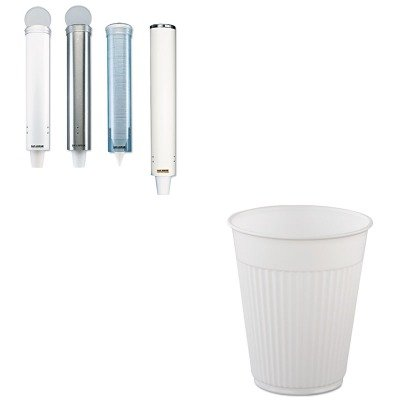 KITSJMC4150SSSLOMWPCF5 - Value Kit - Solo Plastic Medical amp;amp; Dental Cups (SLOMWPCF5) and San Jamar Small Pull-Type Water Cup Dispenser (SJMC4150SS)
