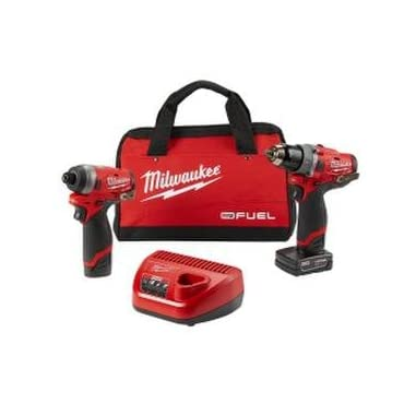 Milwaukee 2598-22 M12 Fuel 2 Pc Kit- 1/2 Hammer Drill & 1/4 Impact