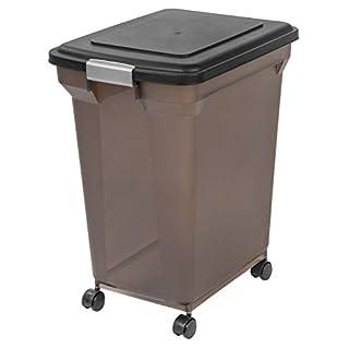 IRIS USA Premium Airtight Pet Food Storage Container, Black, 55 lb (300686) NMP-XL