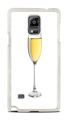(White Wine Glass Clear Hardshell Case for Galaxy Note 4)