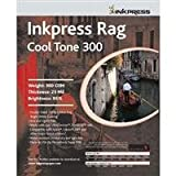 Inkpress Rag, Cool Tone Double Sided, Bright White Matte Inkjet Paper, 24 mil., 300gsm, 13x19'', 25 Sheets