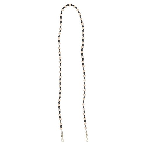 """Beaded Eyeglass Necklace Chain for Women - Adjust to Fit Any Size Eyewear Frame, Reading Glasses or Sunglasses - 24"""" Length - Beige - by - Frames Plastic Adjust"""