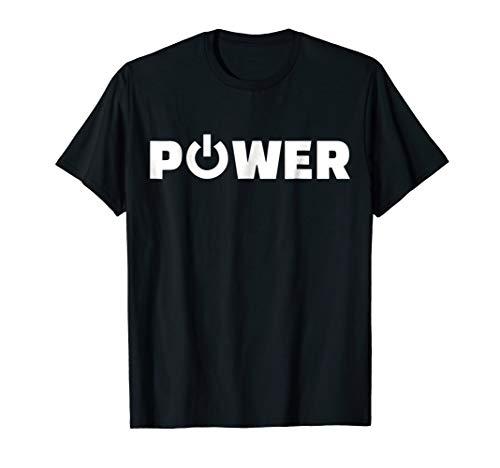 (Power button T-Shirt)