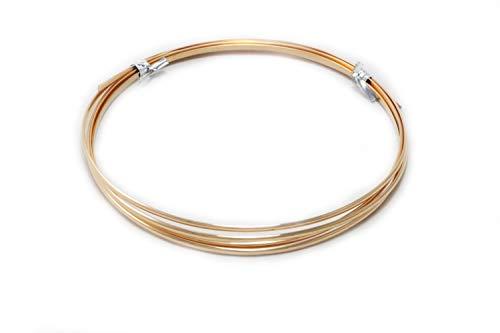 10 Gauge, Bronze Wire, Half Round, Dead Soft, CDA #521-5FT from Craft Wire