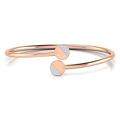 Buy Caratlane 18KT Rose Gold and Diamond Bracelet for Women