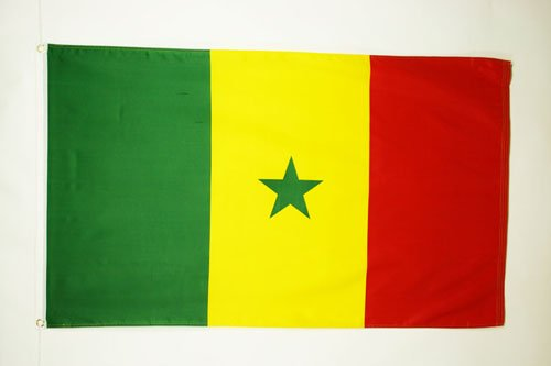 Bandera SENEGALESA 60 x 90 cm AZ FLAG Bandera de Senegal 90x60cm