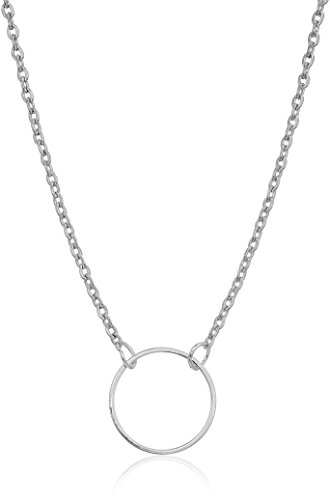 trendy open circle fashion chain necklace, 18