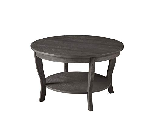 White Convenience Concepts American Heritage Round Coffee Table
