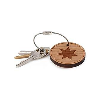 Heptagram do it yourselfore heptagram keychain wood twist cable keychain large aloadofball Gallery