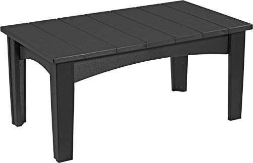 (Furniture Barn USA Outdoor Island Coffee Table - Black Poly Lumber - Recycled Plastic)