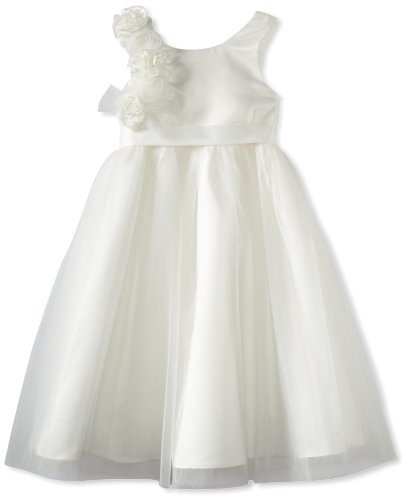 Us Angels Big Girls' Empire Dress, Ivory, 14 by US Angels