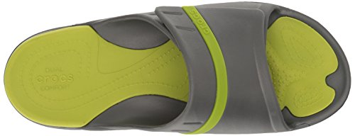 Crocs Modi Sport Slide Sandaal Grafiet / Volt Groen
