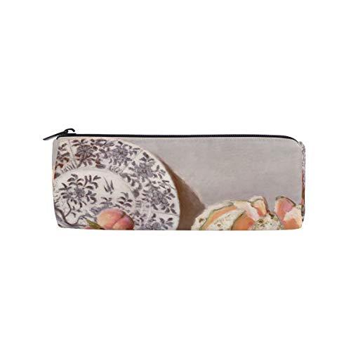 - Pencil Case Monet's Still Life with A Melon Peach Grape Pen Bag Students Stationery Storage Pouch, Makeup Pouch Wallet for Women