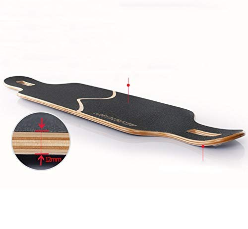 KYCD Double-Warp-Longboard-Skateboard, Ahornholz-Tanzbrett-Straßenbrett-Erwachsene Jungen Jungen Jungen und Mädchen-Tanzbrett-Anfänger-Vierradbürste Straße-Reise-Roller 104cm (Farbe   A) B07PZ3S3CY Longboards Einfaches Leben 450be4