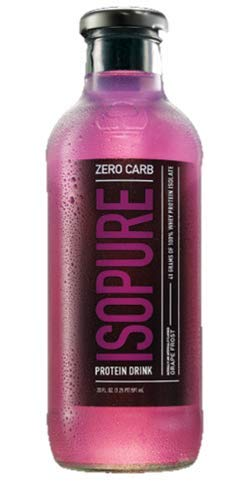 Isopure 40g Protein, Zero Carb Ready-To-Drink- Grape, 20 Ounce (Pack of 12) by Nature's Best