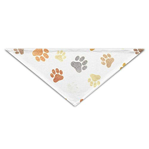 (BAGT Paw Print Pet Dog Cat Puppy Bandana Triangle Head Scarfs Accessories)