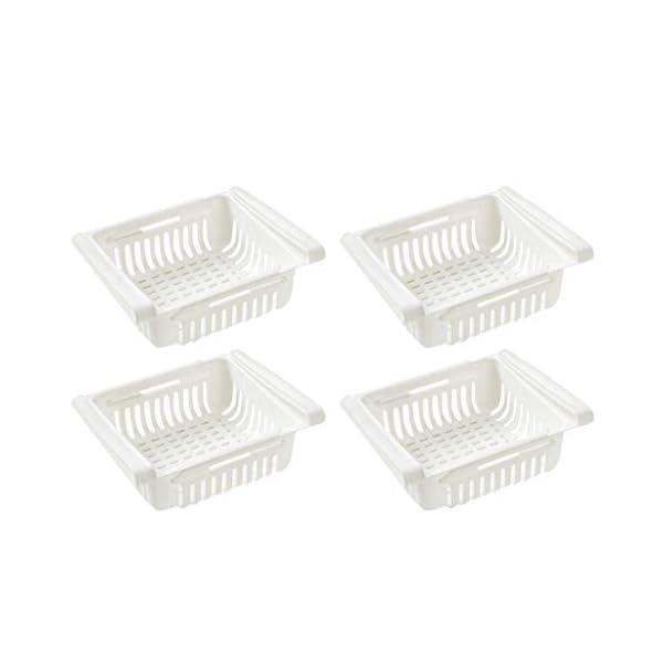 ☀ Dergo ☀ Storage Rack Pull-out Refrigerator Storage Box Holder Food Organizer Drawer Shelf Proper