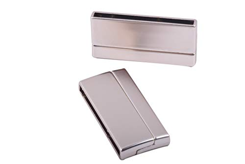 KONMAY 3 Sets Magnetic Jewelry Clasps Rectangle Shaped, Matte Golden, ()