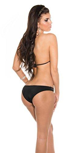 Mujer Neck Holder Triángulo Bikini Set lentejuelas en blanco y negro rosa XS S M Cup a de c de koucla by en de stylefa shion negro