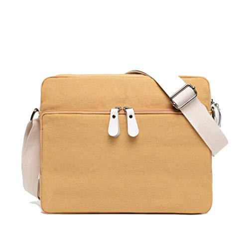 44in Jaune Marchant H 93 One Taille Messenger Simple Sac couleur Jaune Épaule Zipper Unisexe Le Size Bag l W 3 11 Imperméable 02 9 Retro De Voyage En Toile afwUw17x