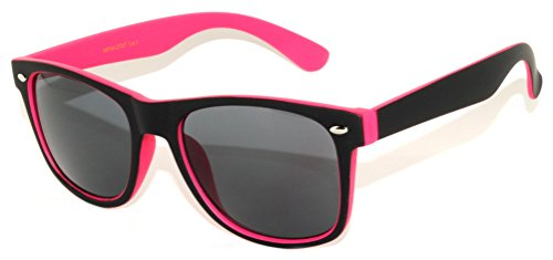 Retro Classic Vintage Two Tone Black – Pink Sunglasses for - Pink And Sunglasses Black