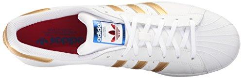 Adidas Heren Superster Schoenen Ftwwht, Goldmt, Blauw