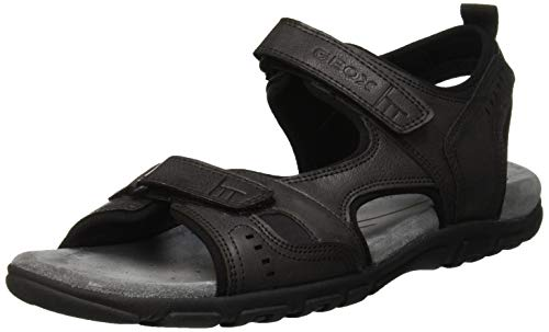 Homme Ouvert Uomo C9999 Bout Sandales black A Geox Strada 6AOxY