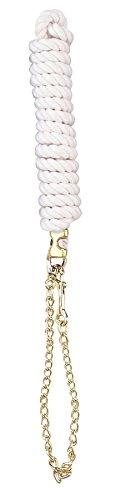 (Perri's Cotton Lead with Chain, White, 1/2