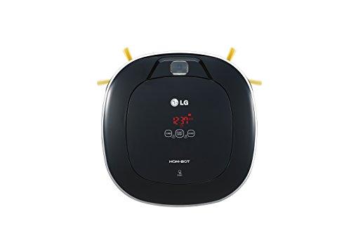 LG VR63485LV Hom-Bot Square Staubsauger-Roboter, Schwarz glänzend