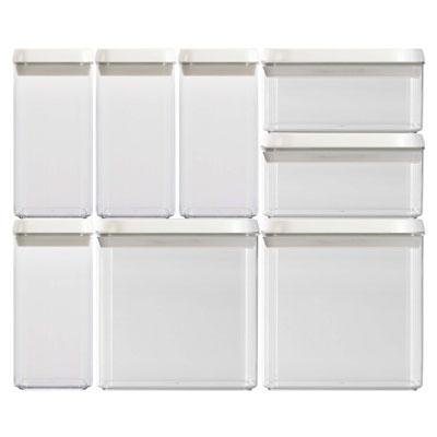 Flip-Tite 8pc Canister Set (NLZU4A2-1-060) - by Felli Housewares