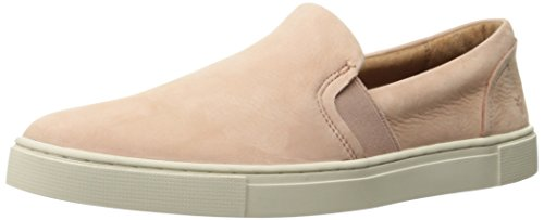 FRYE Women's Ivy Slip Fashion Sneaker, Blush Soft Tumbled Nubuck, 9.5 M US